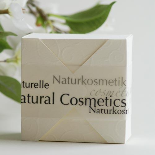 Faltkarton (Plottervorlage von Olionatura®) mit Schmuckpapier »Natural Cosmetics«
