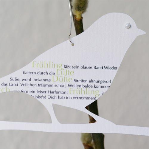 Anhänger »Frühlingsvögel«