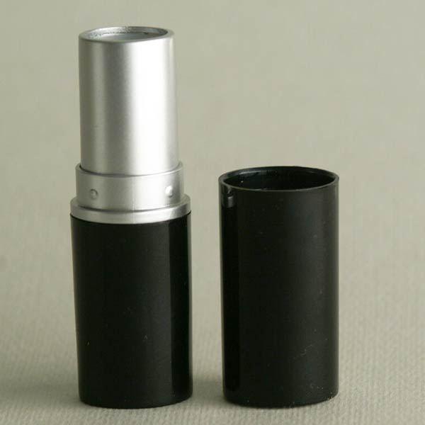 Lippenstifthülse schwarz, 12,7 mm