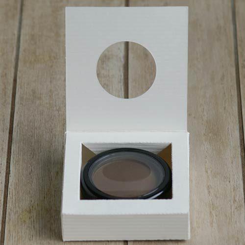 Produktkarton für Makeup-Compaktdose von Olionatura®, 36 mm