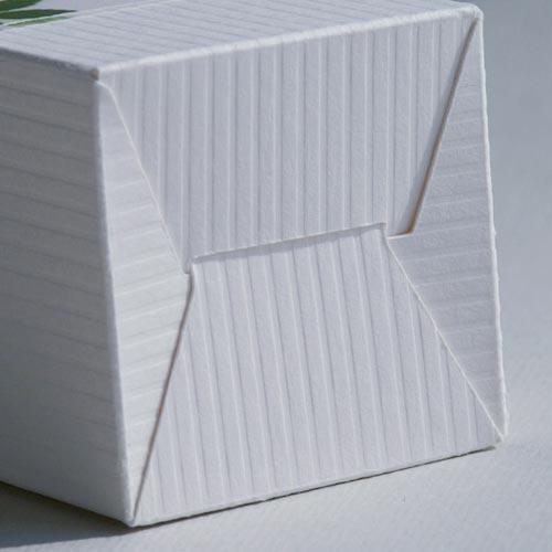 Boden des Produktkartons für Glasflasche SATINÉ (Plottervorlage von Olionatura®)