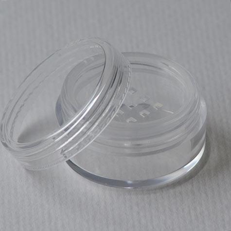 Tiegel aus Acryl, 10 ml (ideal für Mineralkosmetik), mit Sieb