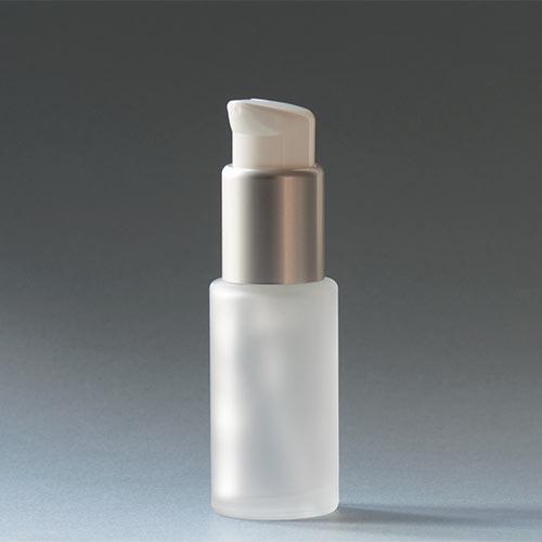 Glasflasche der Serie SATINÉ, 30 ml, mit Lotionpumpe