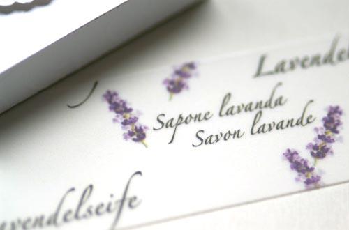 Schmuckpapier »Lavendelseife« von Olionatura® (Detail)