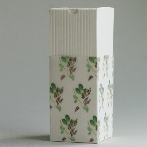 Produktkarton mit Schmuckpapier »Indigo« (Vorlagen von Olionatura®)