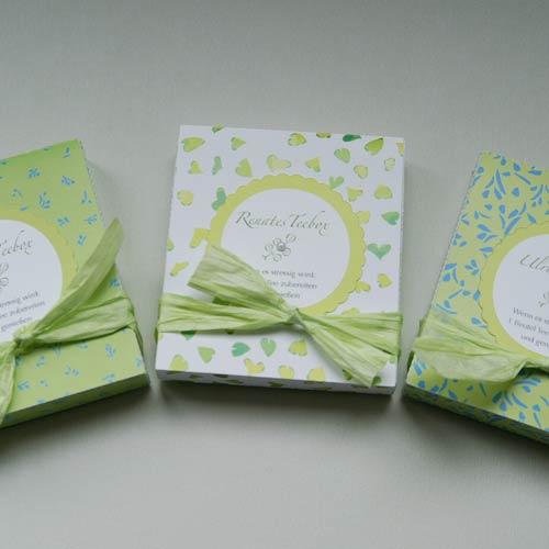 Teeschachtel mit Banderole (Plottervorlage von Olionatura®)