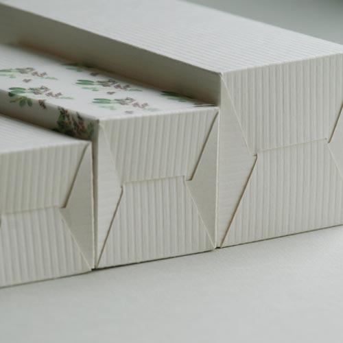 Produktkartons für Glasflasche SATINÉ (Plottervorlage von Olionatura®)