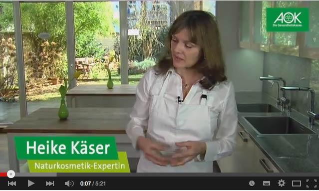 Kooperation von Heike Käser mit der AOK Rheinland: Naturkosmetik selber machen