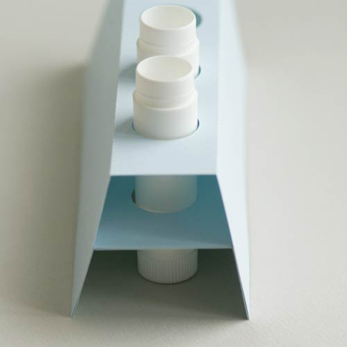 Halterung für 4 Lippenpflegestifthülsen