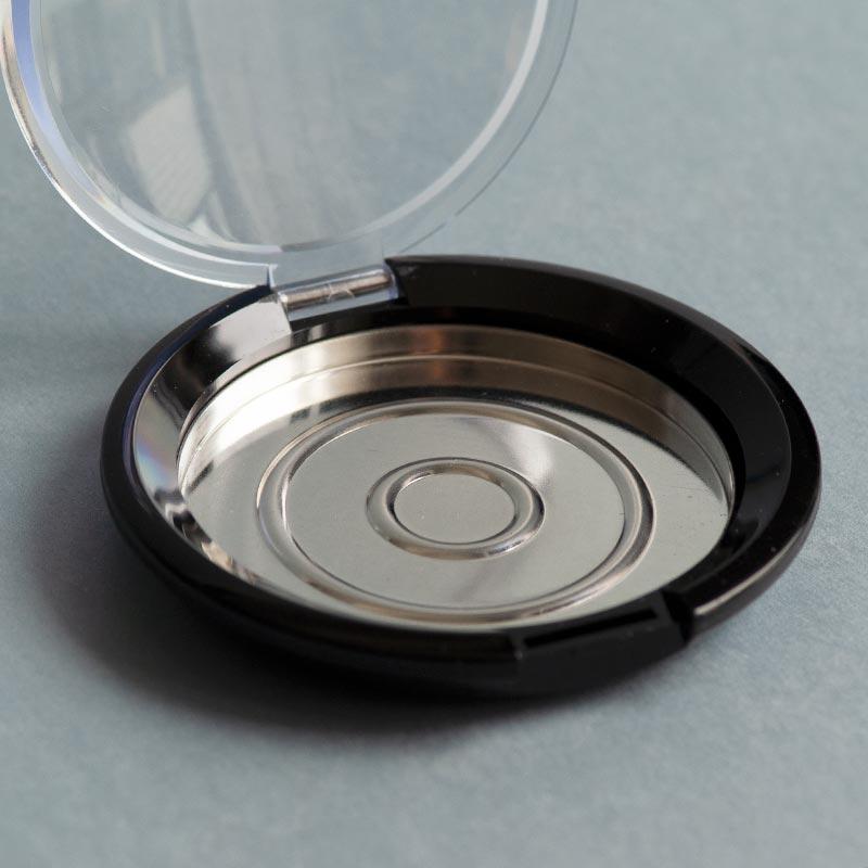 Kompakt-Puderdose, 56 mm, mit transparentem Deckel