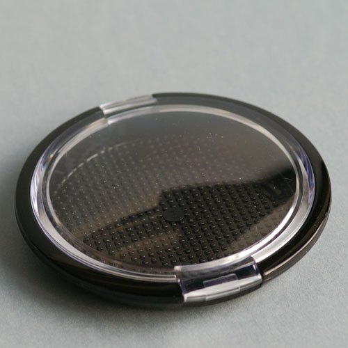Make-Up-Compact-Dose, 56 mm, mit transparentem Deckel