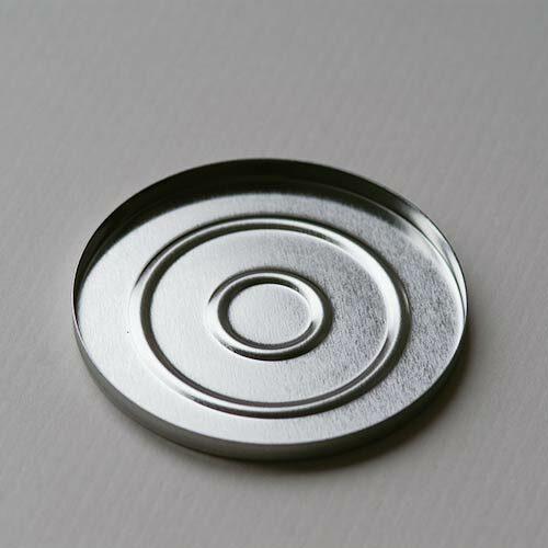 Puderpfanne aus magnetischem Weißblech, 56 mm, in Deutschland hergestellt