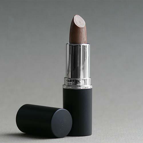 Lippenstifthülse, schwarz-matt mit silbernem Ring, 12,1 mm