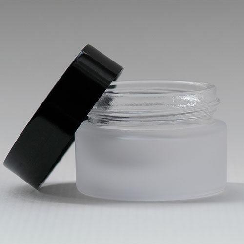 Tiegel aus satiniertem Glas, 15 ml, Serie NOIRÉ
