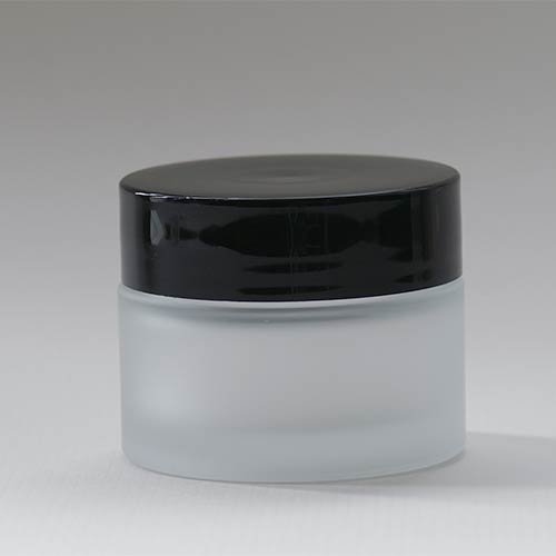 Tiegel aus satiniertem Glas, 50 ml, Serie NOIRÉ