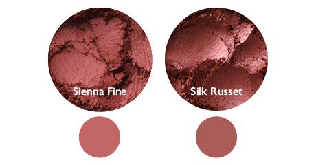 Vergleich: Sienna Fine (links) und Silk Russet (rechts)