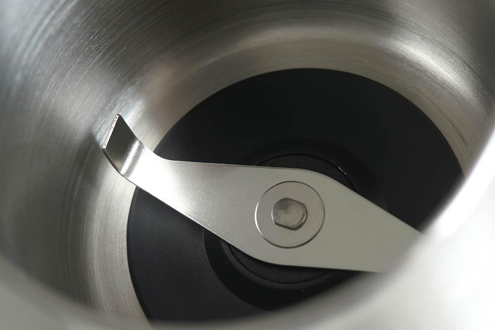 Mahlkammer der Kaffeemühle, aus Edelstahl (Detail)