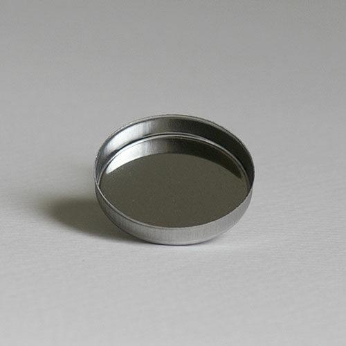 Magnetische Puderpfanne aus Weißblech, 26 mm