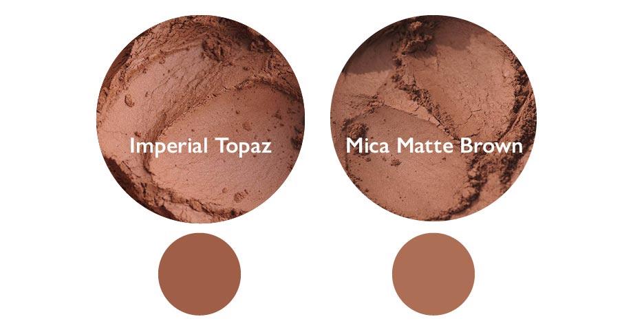 Vergleich: Imperial Topaz und Mica Matte Brown